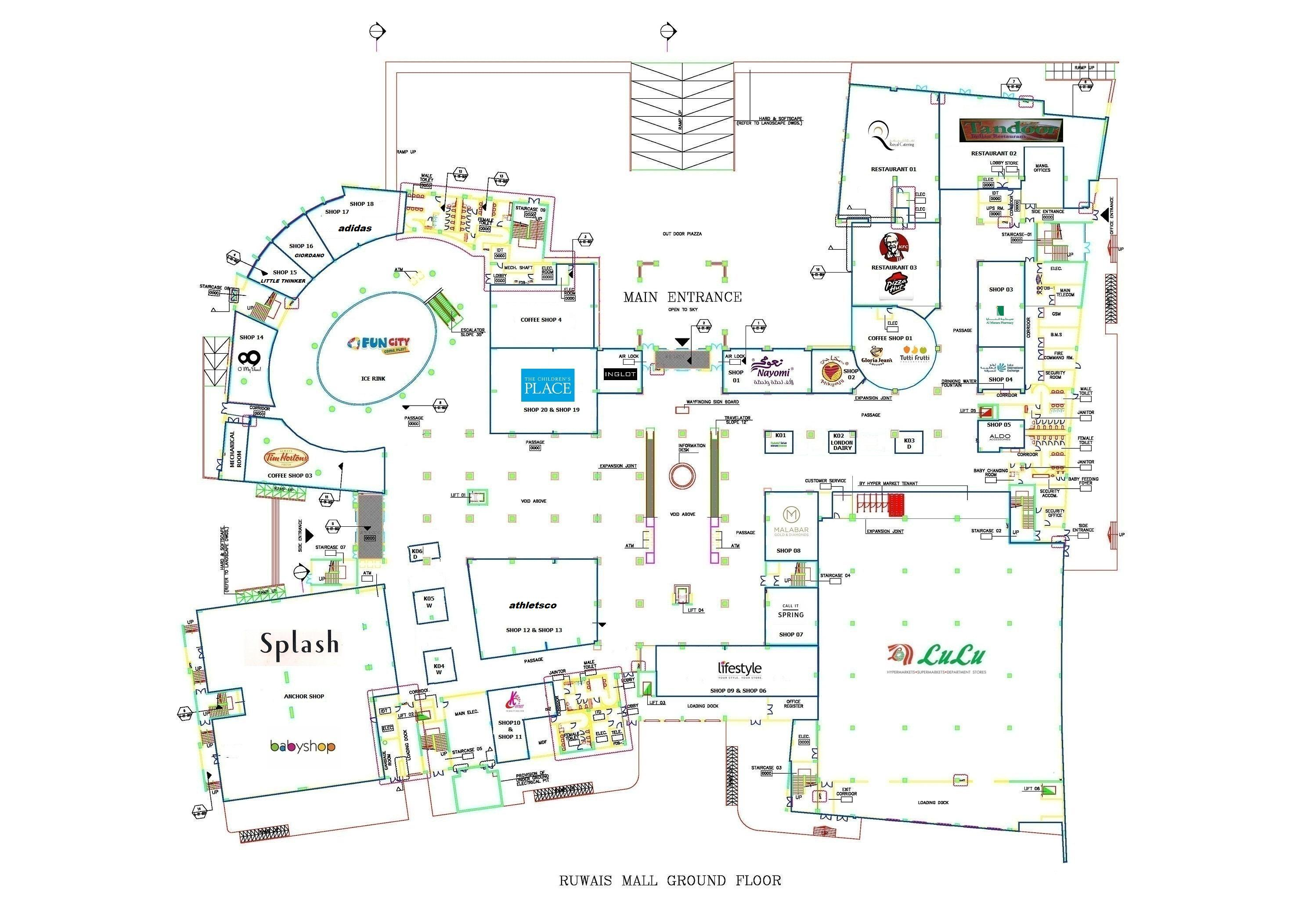 Housing Floor Plans Ruwais Shopping Mall Update Shops Layout