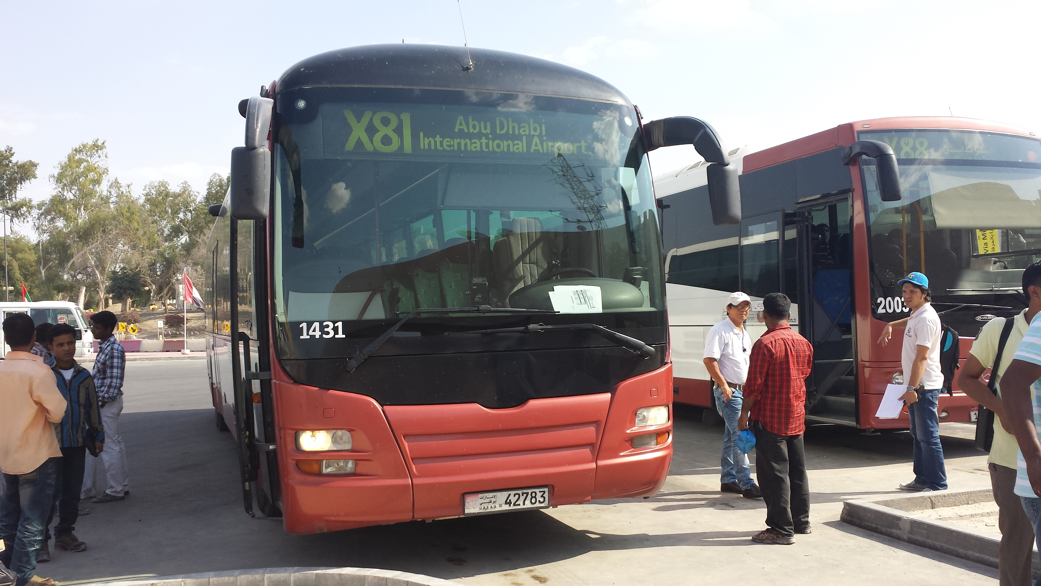 Bus X81 Ruwais to Abu Dhabi Intl Airport AUH