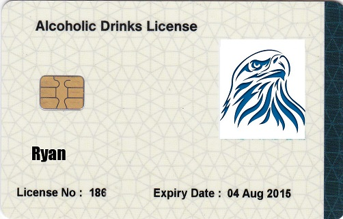 alcoholic drinks license