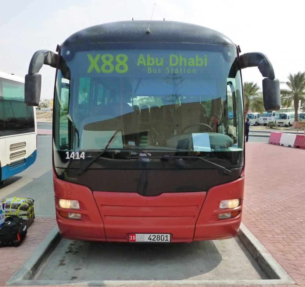 Bus X88 - Ruwais to Abu Dhabi